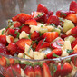 Minty Strawbery Lime Fruit Salad