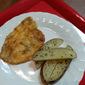 Potato Flake Fish with Parsley Potatoes