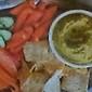 Veggie Platter with Pea Hummus Dip