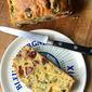 French Savory Cake w/ Salami & Olives