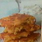 Baked Cheese Hash Brown & Onion Patties with Rosemary Sour Cream