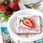 Roasted Rhubarb Strawberry Squares