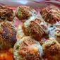 Eggplant Meatball Parmigiana