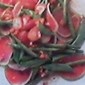 Watermelon Radish & Green Beans-Snow Peas & Strawberry Cold Salad