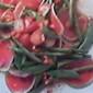 Watermelon Radish & Green Beans-Snow Peas & Strawberry Cold Salad