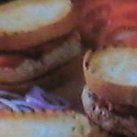 "Italian Turkey Burgers with Tomatoes & Red Onions for ""Two"""