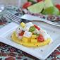 Mango Slice Tostadas with Halibut Ceviche