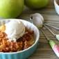 Slow Cooker Brandy Apple Crisp