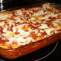 Four Cheese & Sausage Stuffed Manicotti