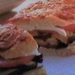 Baked Eggplant~Tomato~Mozzarella Sandwich