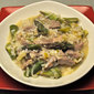 Asparagus Risotto with Veal, Leeks and Green Garlic; mundane news