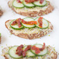 Roasted Garlic Hummus Toast