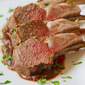 Herb-Crusted Rack of Lamb with Fig and Red Wine Sauce