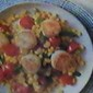Lightly Seared Sea Scallops with Corn and Tomato Salad