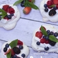 Mini Pavlovas with Fresh Berries