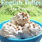 No-Churn English Toffee Ice Cream (only 3 ingredients)