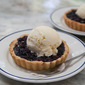 Just In Time for This Weekends Festivities, Gluten Free (or not) Blueberry Tarts with Buttermilk Ice Cream.