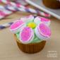 Marshmallow Flower Cupcakes