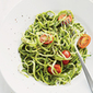 "Zucchini ""pasta"" with pesto"