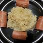 Sauerkraut and Mashed Potatoes with Smoked Sausage