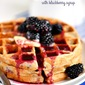 Overnight Blackberry Yeast Waffles with Blackberry Syrup