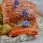 Seared Salmon with Borage Yogurt Sauce