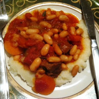 Slow Cooked Beef with Cannellini Beans and Cauliflower Mash