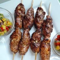 Grilled Jerk Chicken Skewers with Pineapple Salsa
