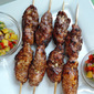 Grilled Jerk Chicken Skewers with Pineapple Salsa