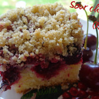 Sour cherry crumb cake