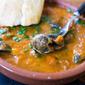 La cuina de Catalunya: snails in a spicy tomato sauce/Cargols amb salsa de tomàquet picant.