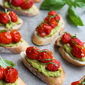 Roasted Tomato & Avocado Crostini Recipe