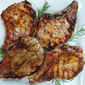 Grilled Pork Chops with Apricot and Whole-Grain Mustard Glaze