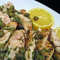 Grilled Chicken Breasts Piccata; hot day at the beach