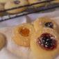 Jam Filled Thumb Print Cookies