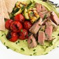 Grilled Pork Tenderloin & Broccoli Cheddar Hummus Platter Recipe