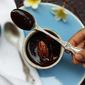 Dark chocolate Beetroot Pots de creme with salted pecans