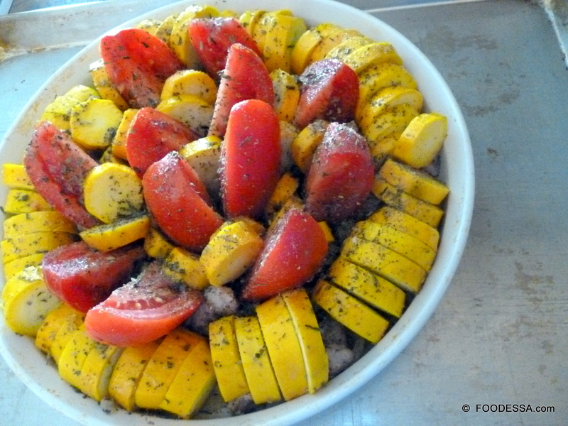 Italo Provencal Sausage Vegetable Tian Recipe by Claudia ...