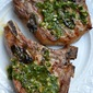 Grilled Pork Chops with Gremolata Butter