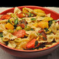 Pasta with Fresh Tomato, Green Olive Sauce
