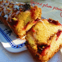 Spiced plum pound cake