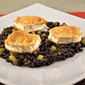 Beluga Lentil Salad, Warm Goat Cheese; this is news?!?!