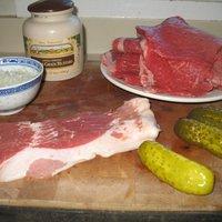 German Rouladen (beef rolls )