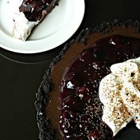Coconut Cherry Chocolate Torte
