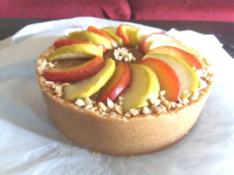 Homemade Apple Custard Tart Recipe by stella - CookEatShare