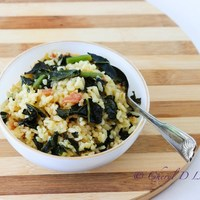 Kale and Bacon Baked Risotto