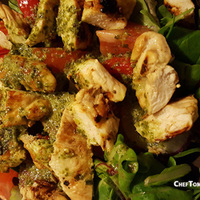 Lemon Marinated Grilled Chicken Salad with Lemon-Basil Dressing
