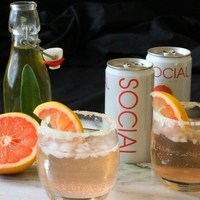 Pink Grapefruit Ginger and Sage Cocktail