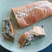 Cream Spinach Roll-Up