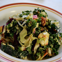 Kale Slaw with Blue Cheese